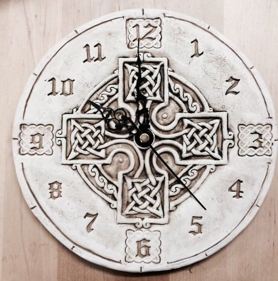 celtic-cross-stonewash-tile-wall-clock