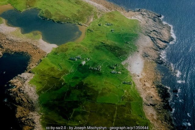 Inishsirrer Island as seen on the approach to Donegal Airport