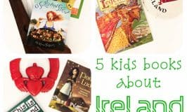 A collection of five ids books about Ireland