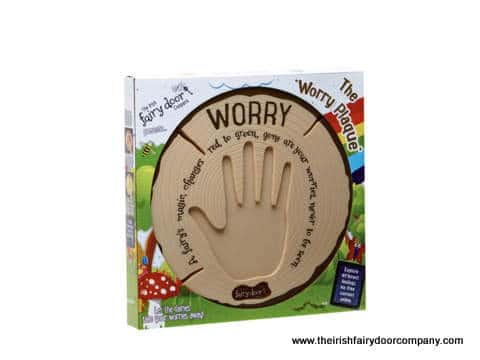 Fairy door worry plaque and packaging