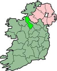 Map with county boundaries