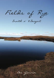 Book cover for Fields of Rye featuring a mountain lake