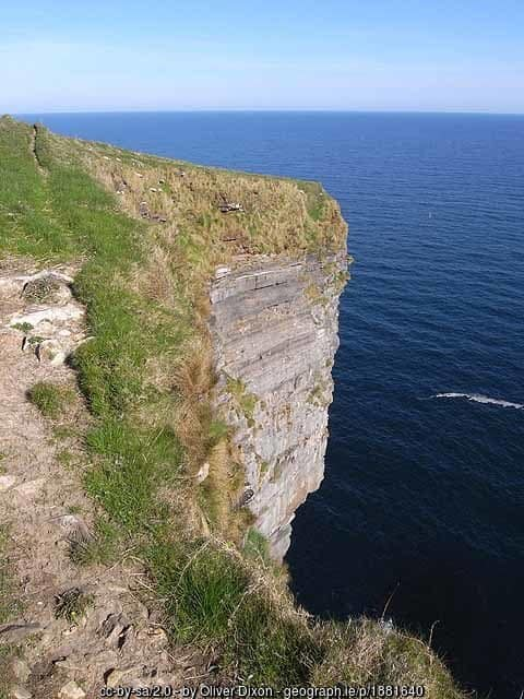 Cliffs over the Atlantic ocean in northern County Mayo