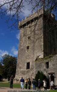 View of Blarney castle an old stone keep