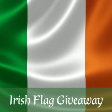 Irish flag with text overlay