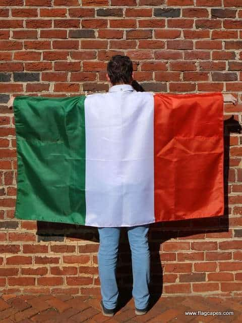 Irish flag cape