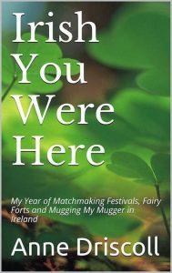 Book cover with green Irish shamrocks