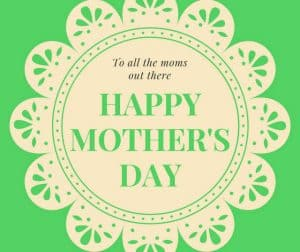 Green Irish graphic for Happy Mother's Day