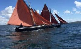 Galway Hookers are traditional boats in the West of Ireland