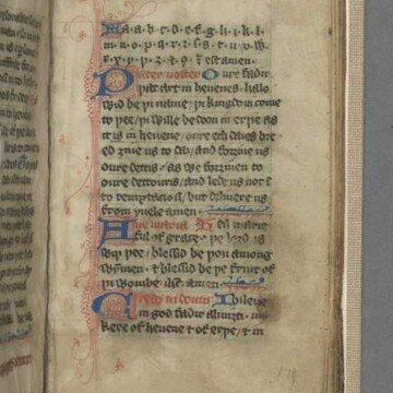 Text on an illustrated vellum manuscript page