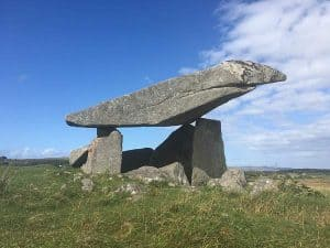 Portnoo Dolmen with large capstone found in County Donegal