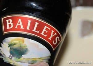 A bottle of Baileys Irish cream