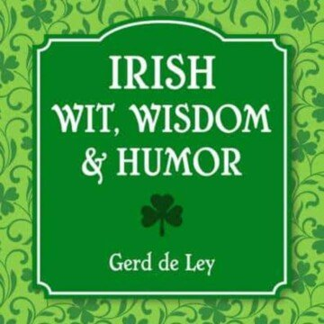 Green graphic with shamrocks and text