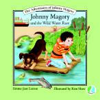 Book cover featuring a boy on a raft with his dog