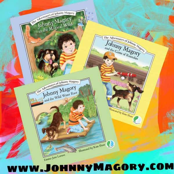 Three children\'s books featuring a young boy