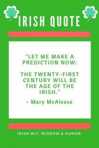The age of the Irish