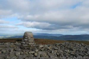 Mountain in County Armagh with a rock cairn on top