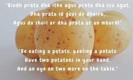 Irish potato saying