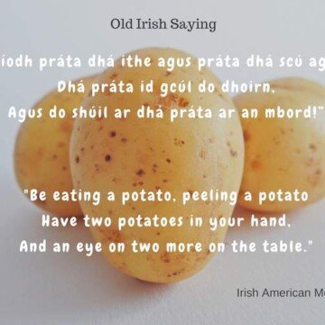 text over an image of potatoes