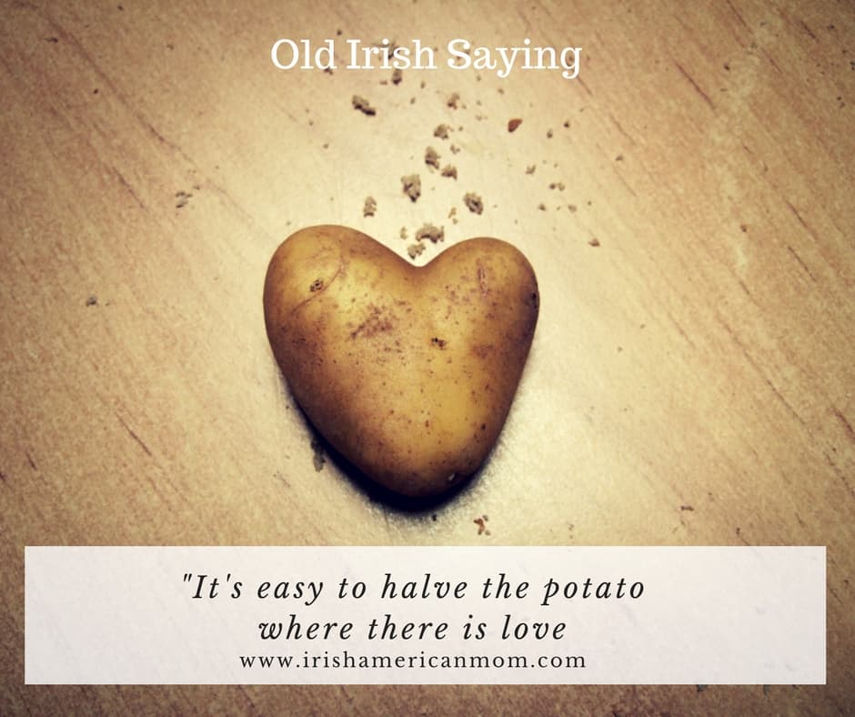 Text on a graphic featuring a potato shaped like a heart