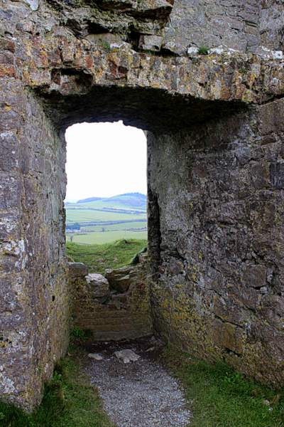 A window opening in a stone wall