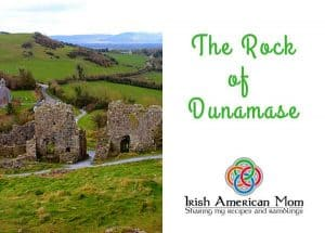 View of the entrance to the Rock of Dunamase County Laois
