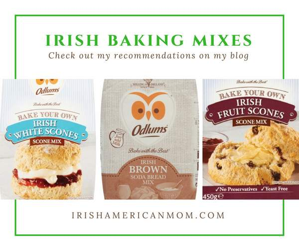Collage of baking supplies with text