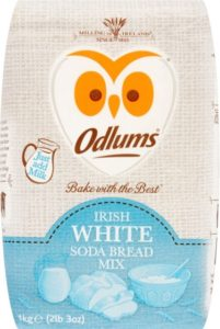 Packaging for a bag of flour with an owl logo