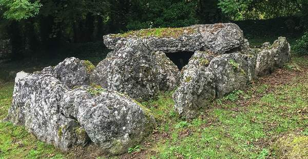 a megalithic rock burial structure and tomb