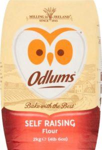 An owl logo on a packet of flour