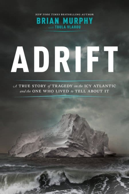 Adrift Book Cover featuring an iceberg