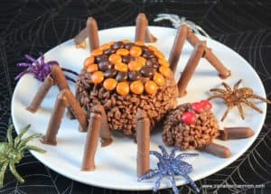 Halloween no bake spider treat