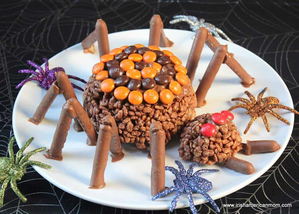 Halloween Chocolate Rice Krispie Spiders