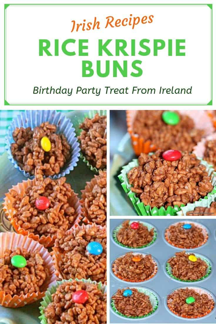 Chocolate birthday party treats from Ireland in a Pinterest graphic