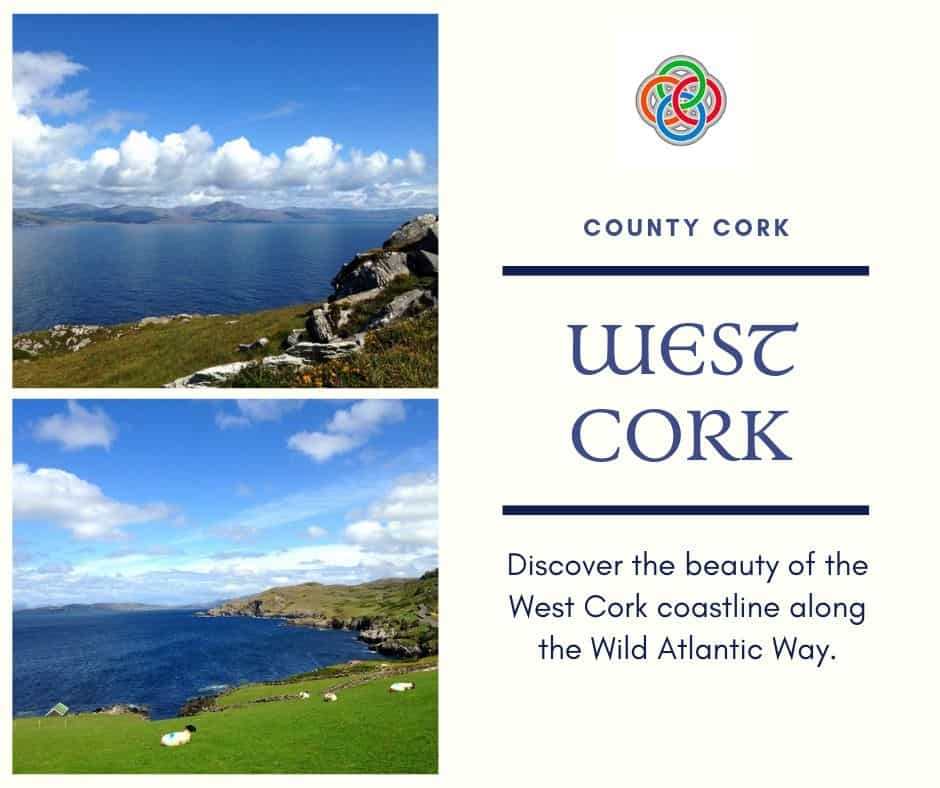 The coastline of West Cork is spectacular and part of the Wild Atlantic Way