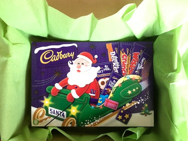 Selection box from Ireland as Christmas gift