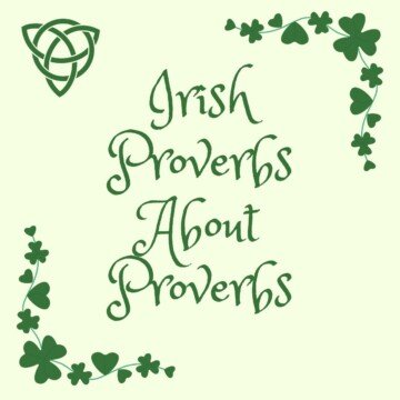 Shamrock borders around text with a Celtic knot