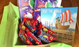 Childrens book gift basket from Ireland