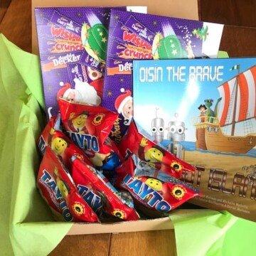 Childrens book gift basket from Ireland