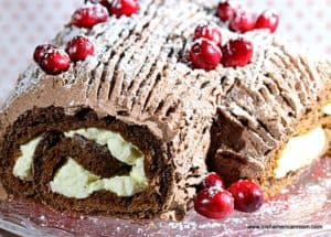 Irish Christmas treat chocolate yule log