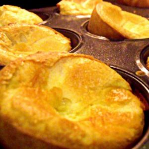 Yorkshire pudding in a muffin tray