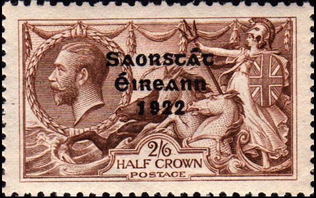 A vintage letter stamp from Ireland