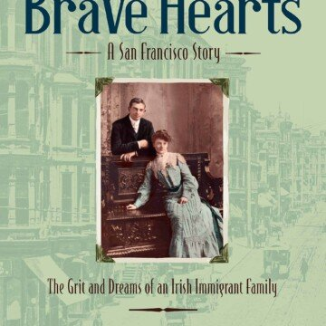 Brave Hearts Book by Jean Mahoney featuring a vintage couple on a carved wooden seat