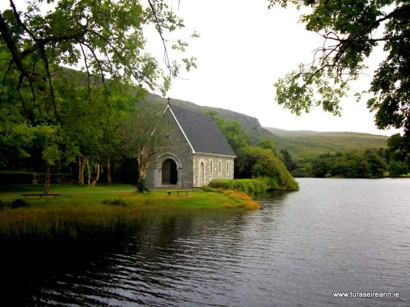 Stone Oratory beside a lake at Goughanebarra County Cork Ireland