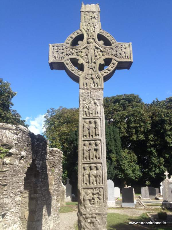 A large carved stone Celtic Cross