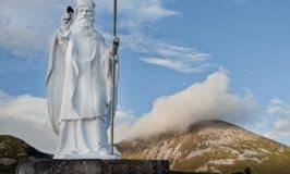 Statue of Saint Patrick by Croagh Patrick