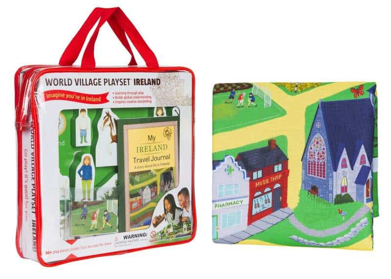 A toy carrier bag for a playset