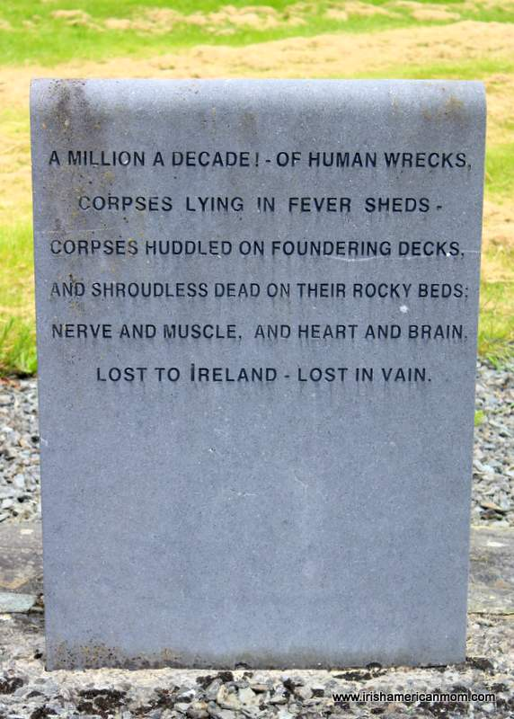 Remembering the victims of Ireland's Great Hunger with a memorial stone in Skibbereen