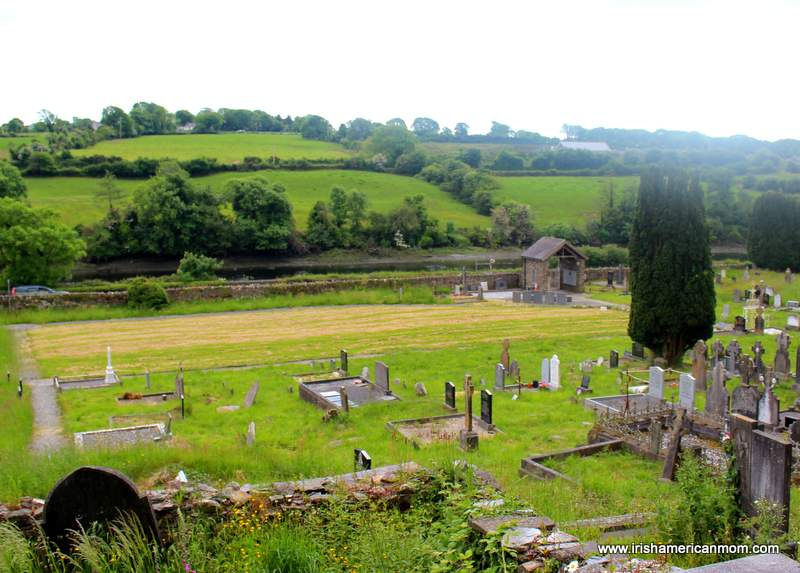 View from above the Famine burial ground at Abbeystrewry in Skibbereen County Cork