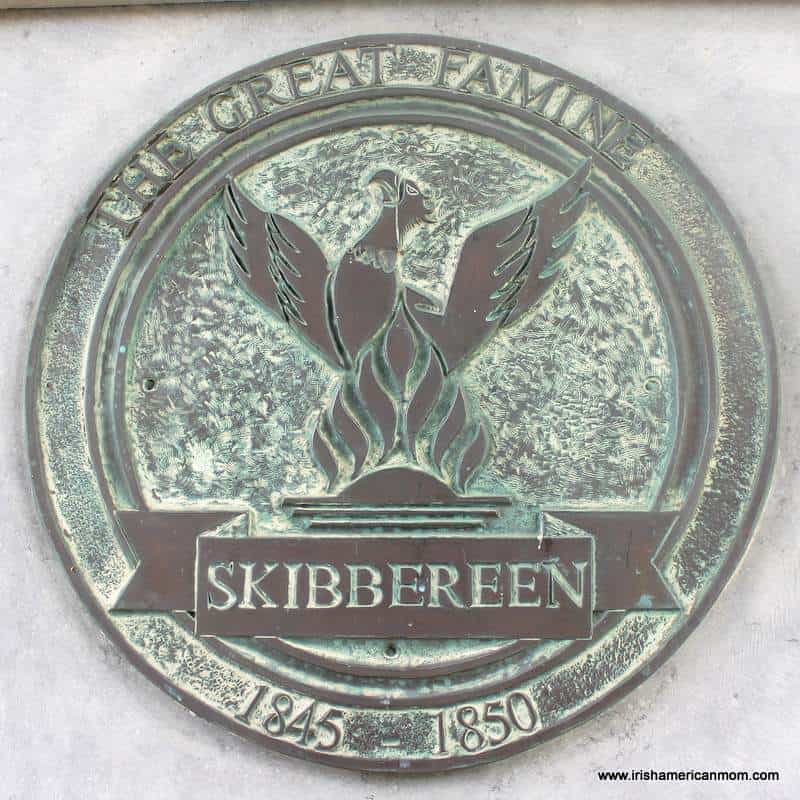 Skibbereen eagle on a commemorative plaque for the Irish Famine